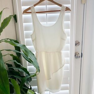 New Everly White Tiered Dress